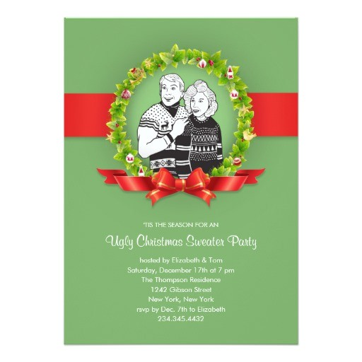 ugly sweater party invite poem