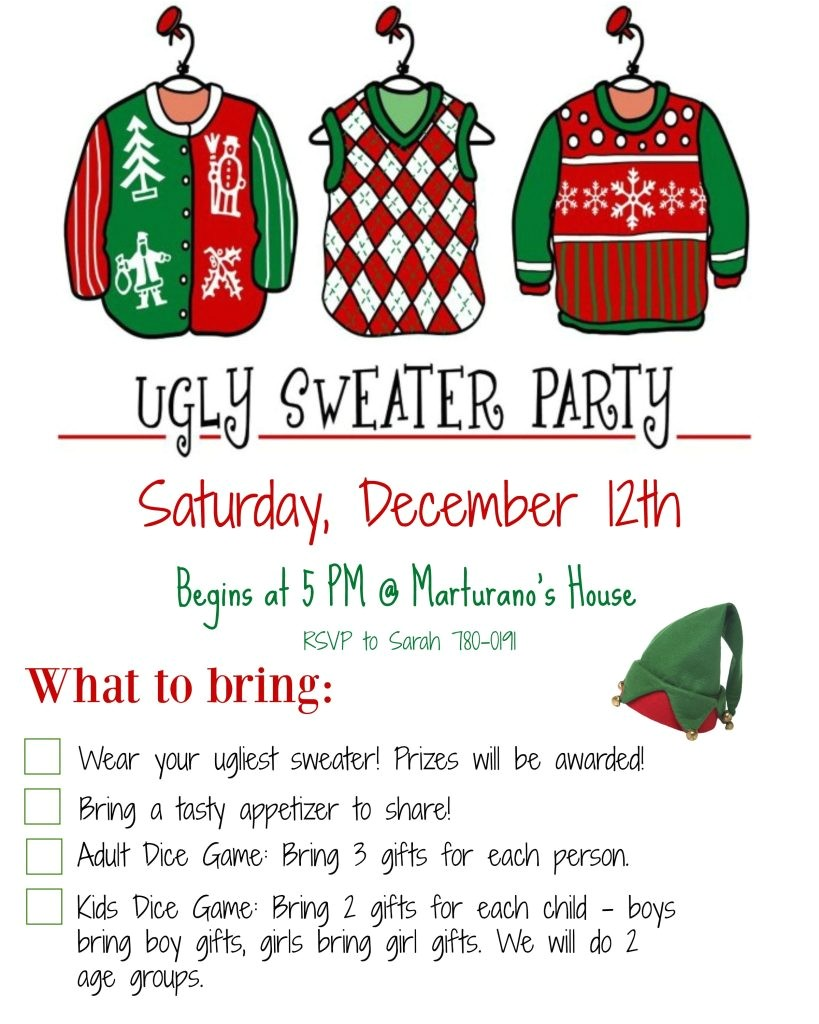 host ugly christmas sweater party