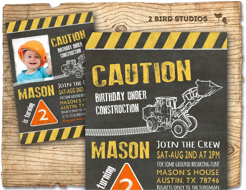 construction invitation in chalkboard