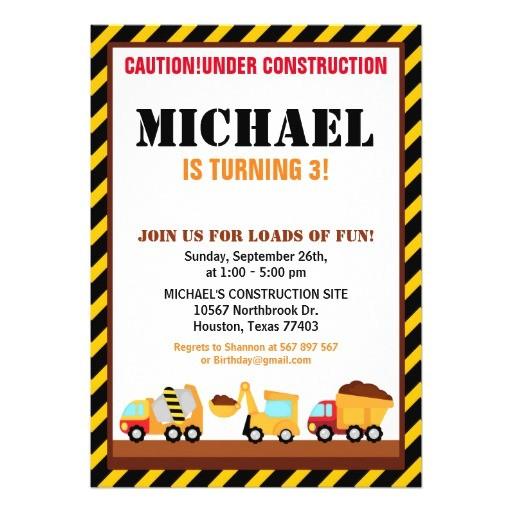 under construction birthday party invitation 256335228904789316
