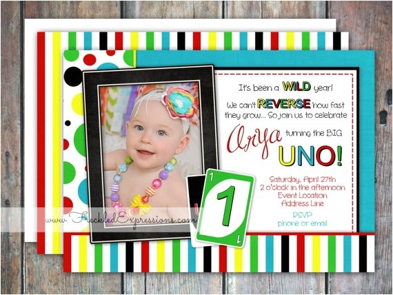uno birthday invitation