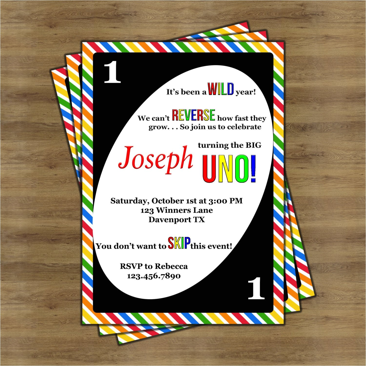 uno birthday invitations uno invitations
