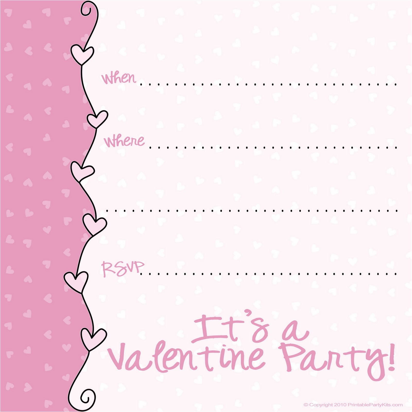 post valentine s day printable party invitations 234561