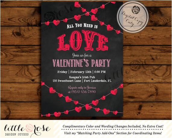 valentine39s party invitation valentine39s day card mother39s day invite bridal shower invite baby shower birthday party printable