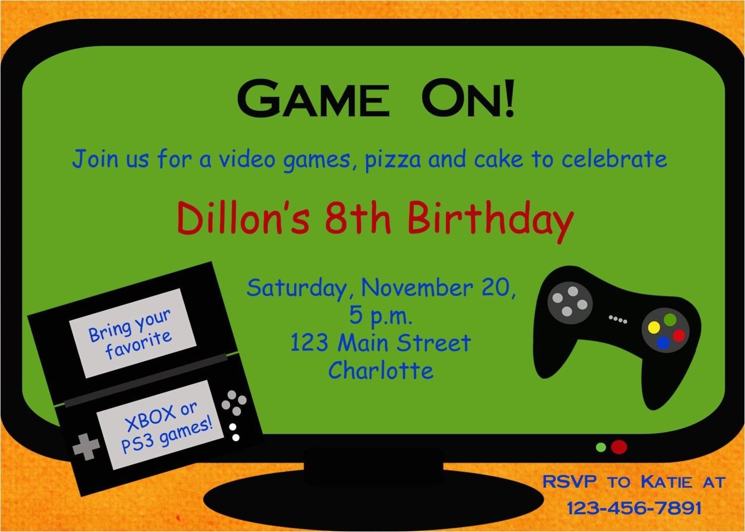 Video Game Birthday Party Invitation Template Free Video Game Birthday Party Invitation Video by