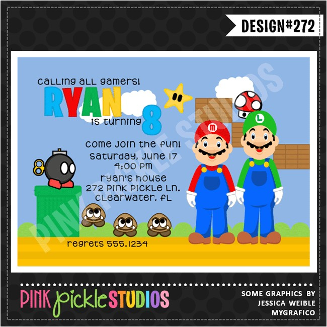 video game party invitations template