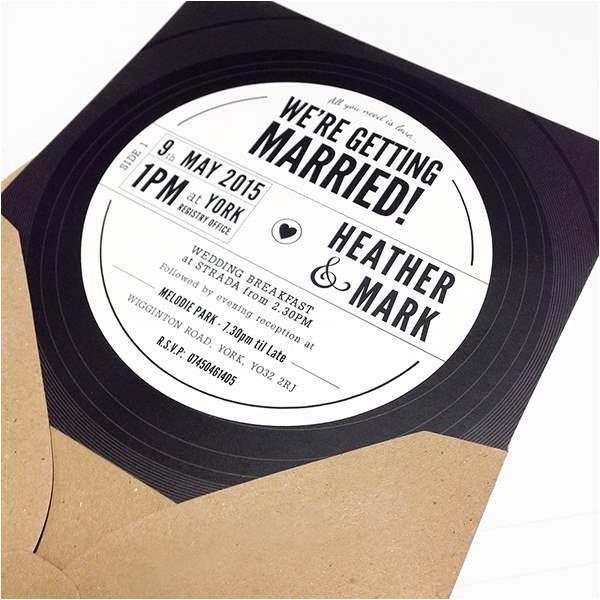 record wedding invitations
