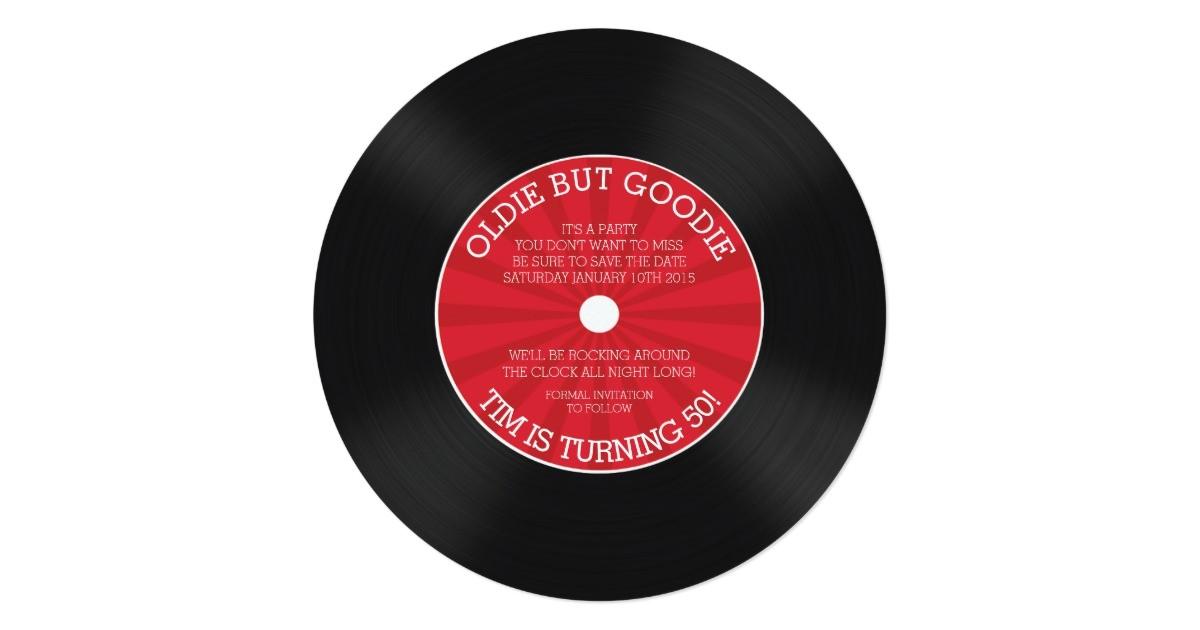 retro vinyl record birthday party invitation 161408411668217910