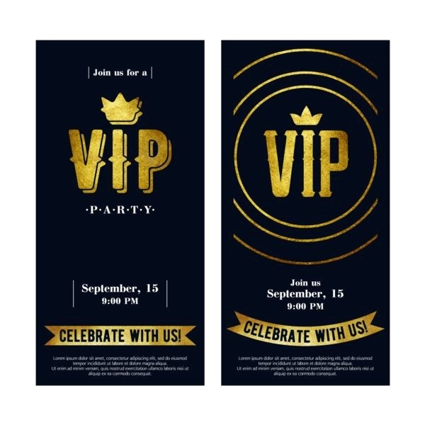 luxury vip invitation cards template vector 05 download
