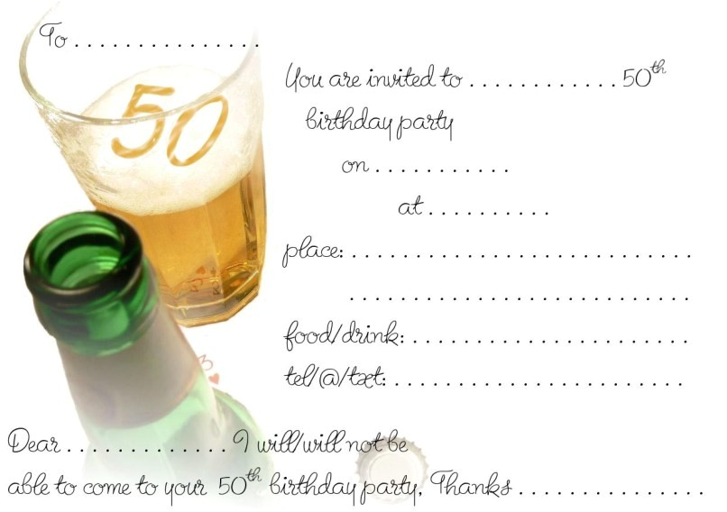 free printable 50th anniversary party invitations