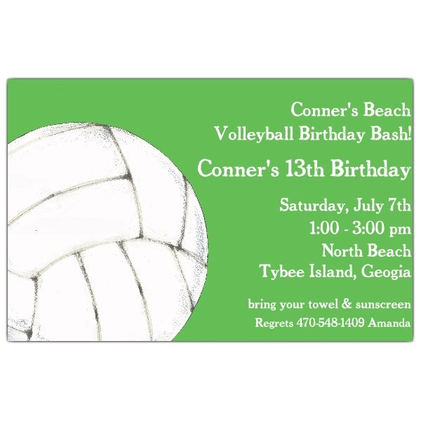 your serve volleyball birthday invitations p 612 85 21806itb