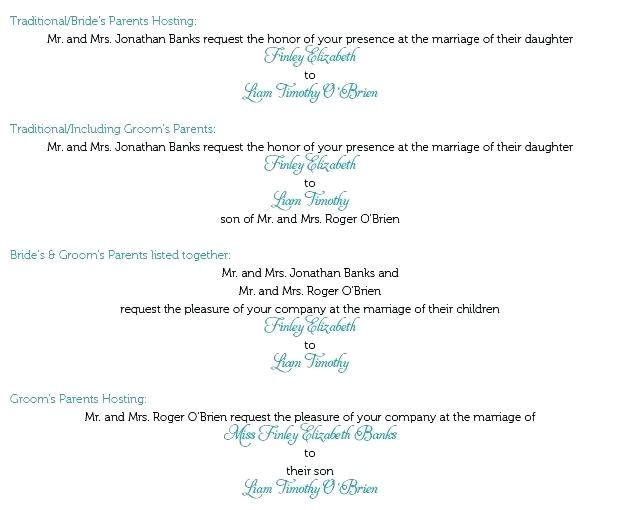 wedding invitation wording for grooms parents hosting
