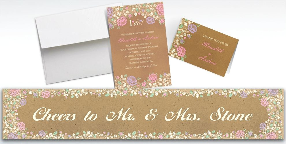 custom rustic floral wedding invitations thank you notes do