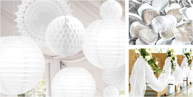 white wedding decorations do