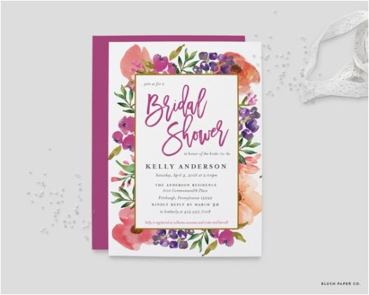 what should a bridal shower invitation say