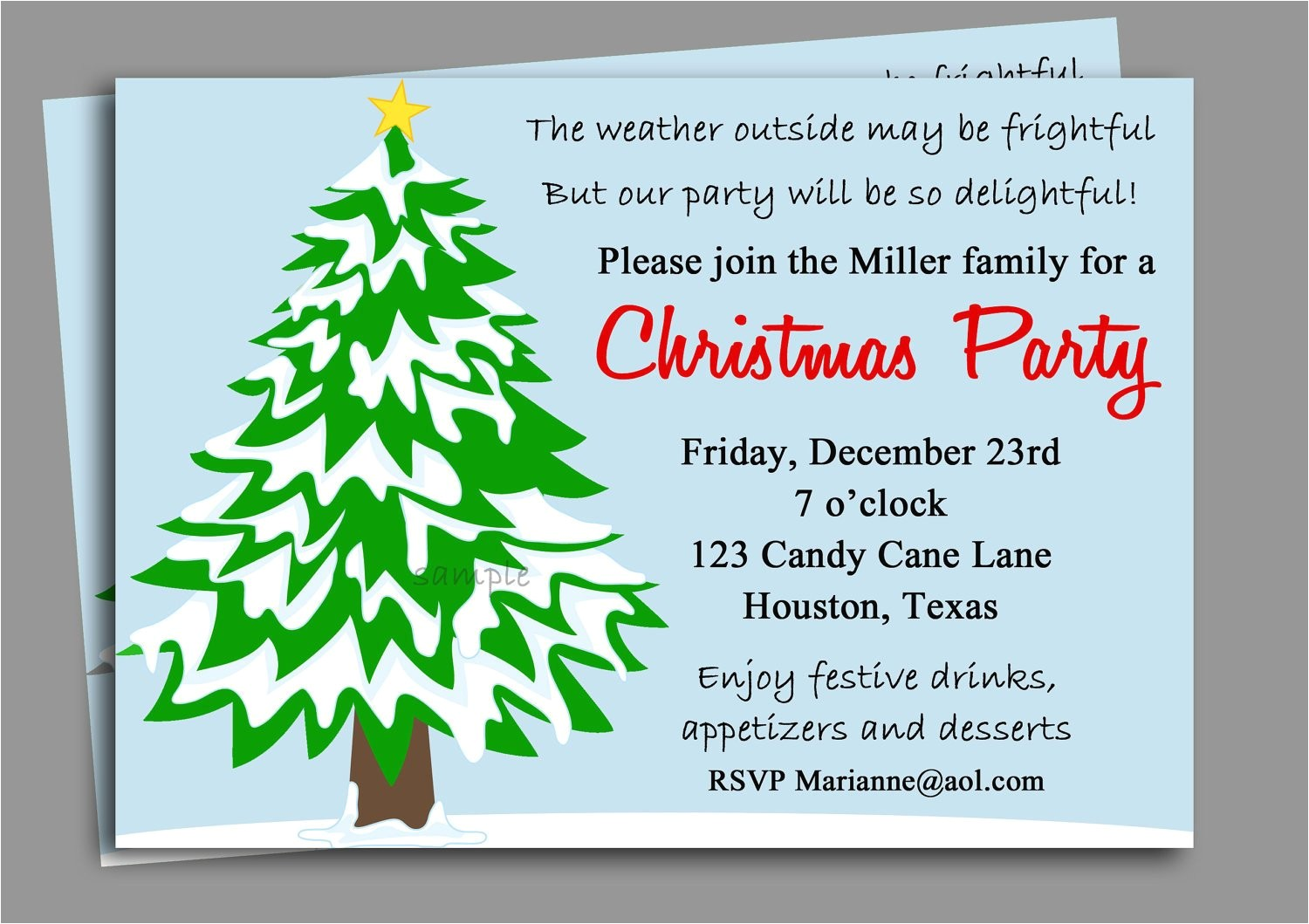 christmas party invitation printable