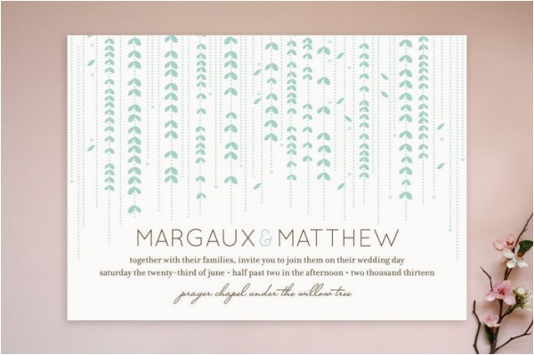 spring wedding invitation ideas