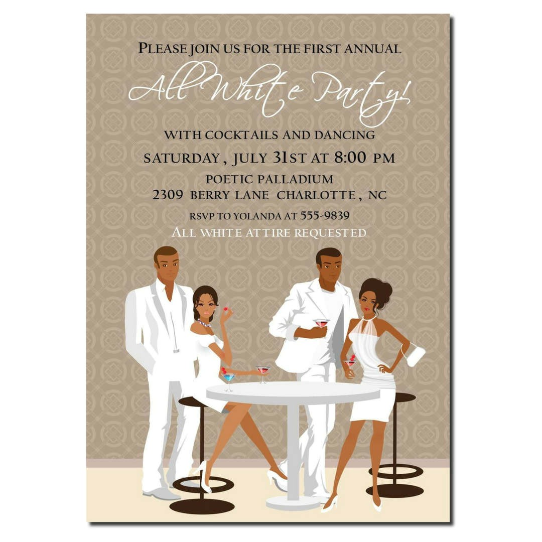 african american all white party