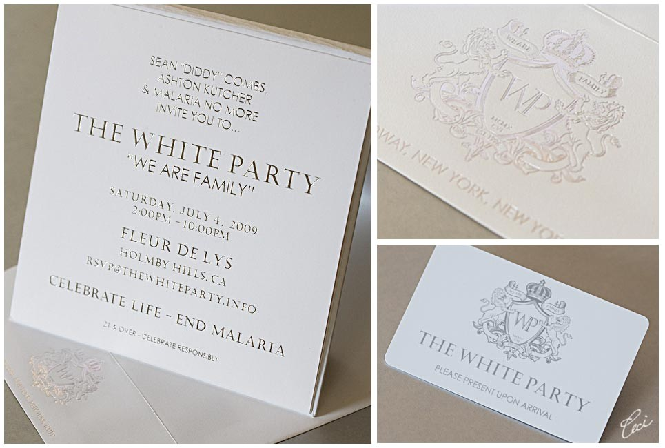 10 design white party invitations card example for people