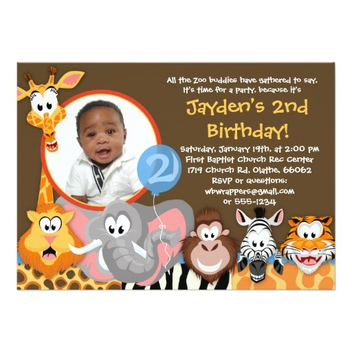 zoo animals wild animals birthday invitation 161578625768518692