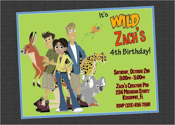 wild kratts party invitations