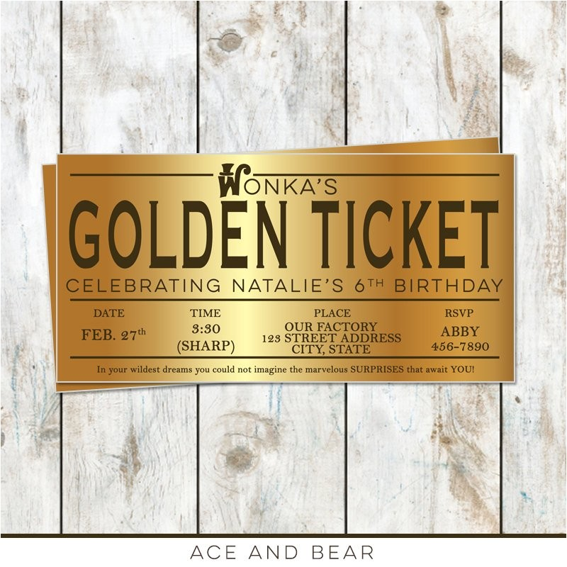 willy wonka birthday golden ticket