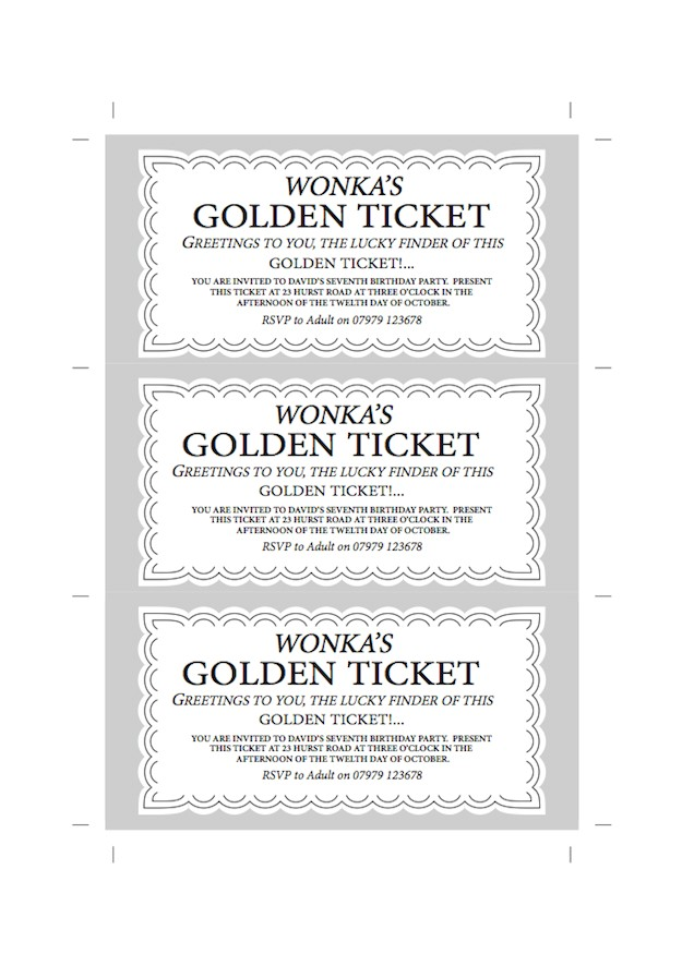 willy wonka chocolate bar party invite