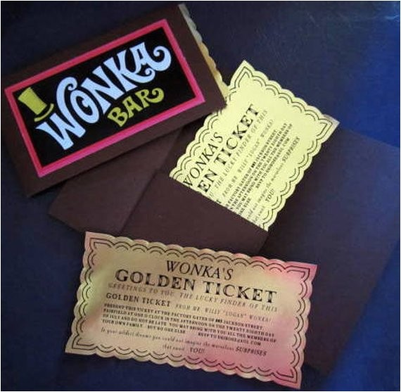 12 willy wonka golden tickets as