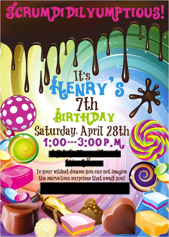 henrys willy wonka birthday party