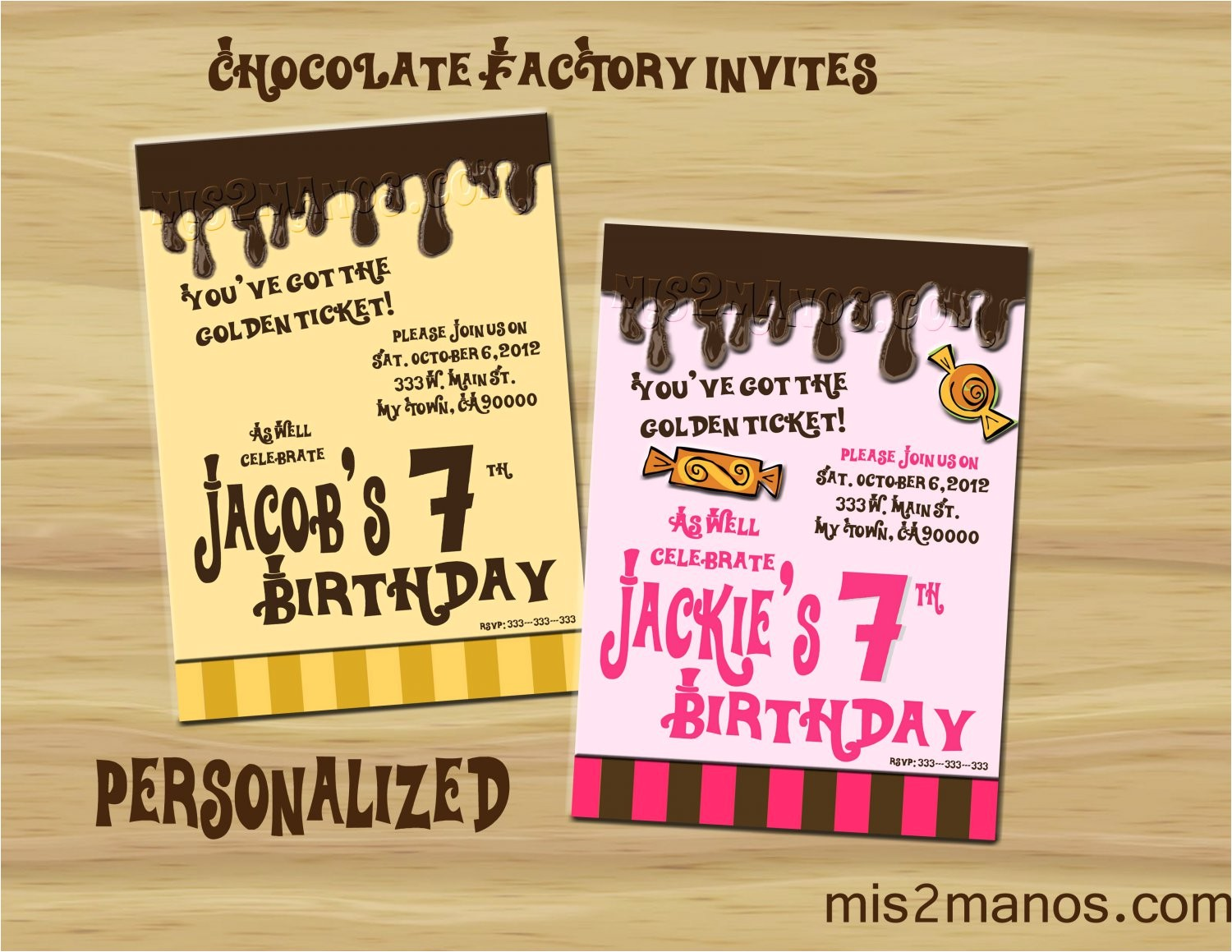 willy wonka inspired invitation party