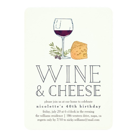 any occasion wine and cheese party invitation 256332852888719907