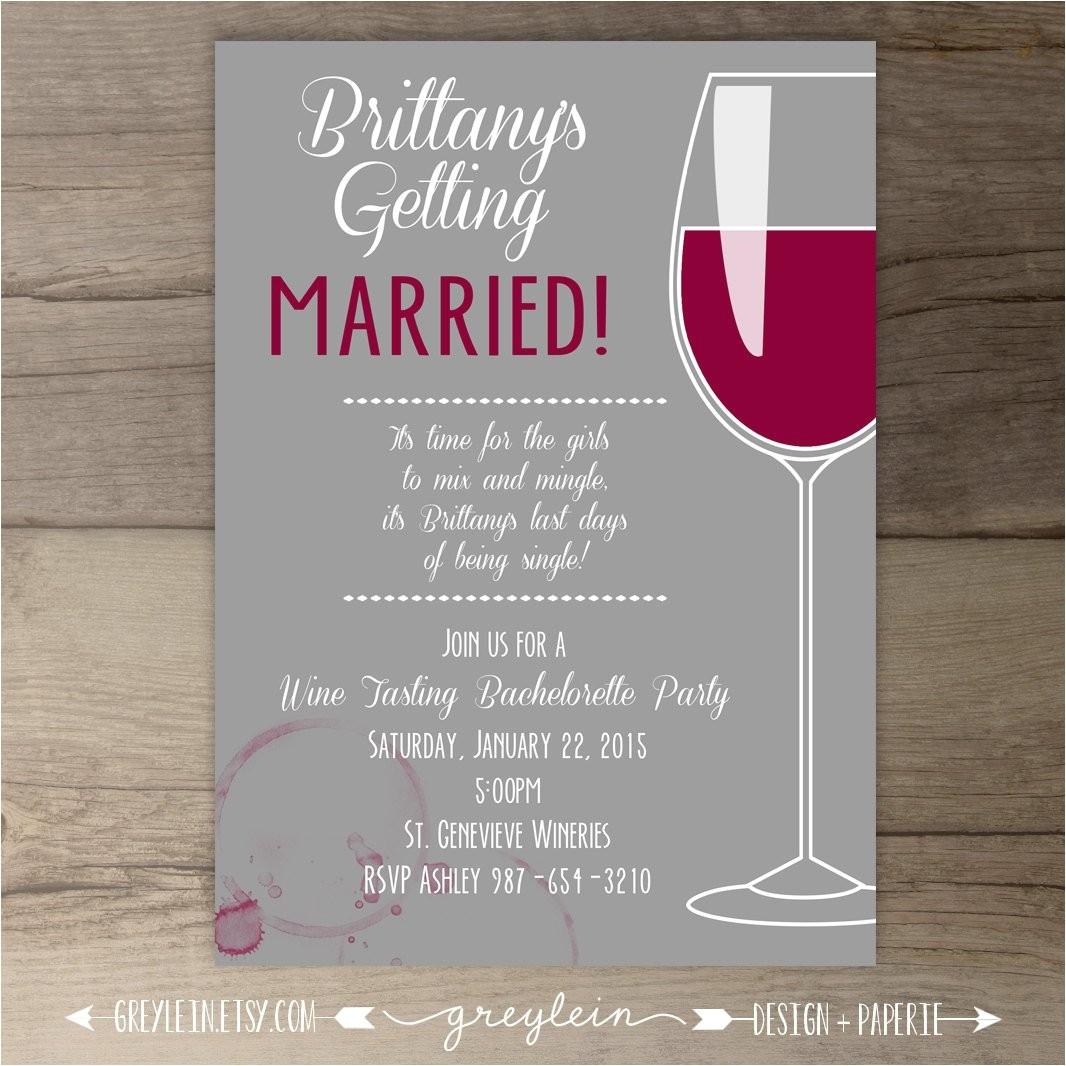 bachelorette party invitations wine shtml