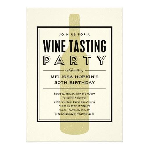 wine birthday party invitation wording