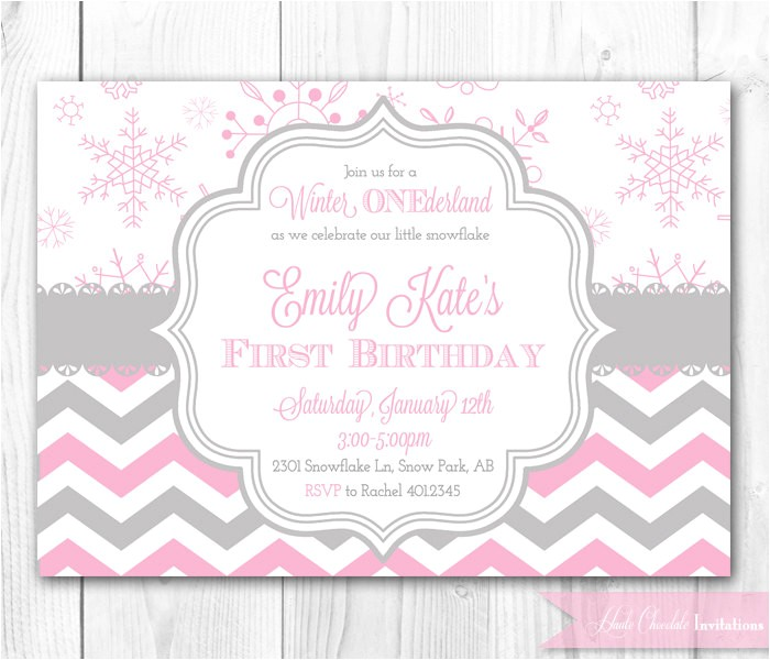 winter wonderland birthday invitations
