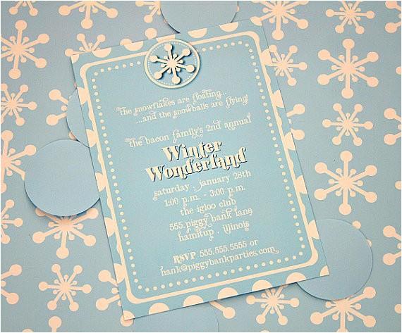 winter wonderland invitations template