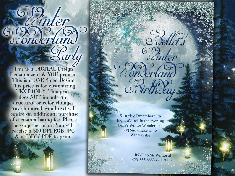 winter wonderland party winter