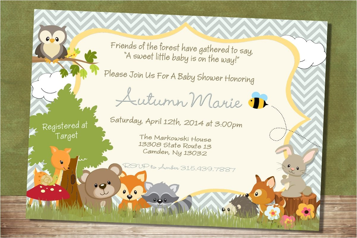 chevron forest themed baby shower