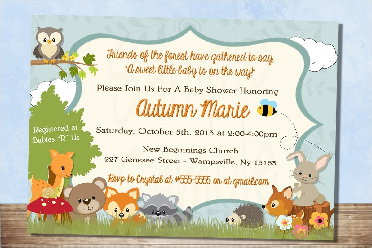 printable forest themed baby shower