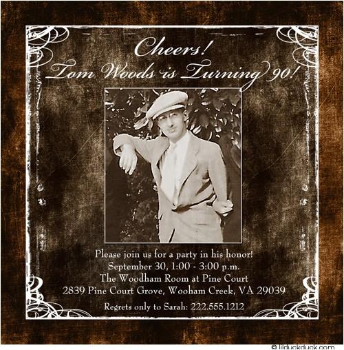 90th birthday party invitation wording ideas