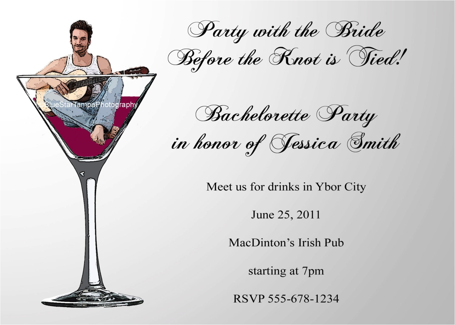bachelor party invitation email