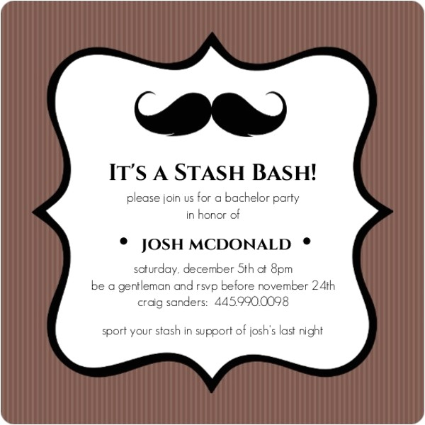 bachelor party invitation wording