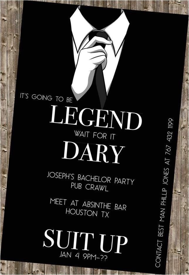 bachelor party invite legendary himym