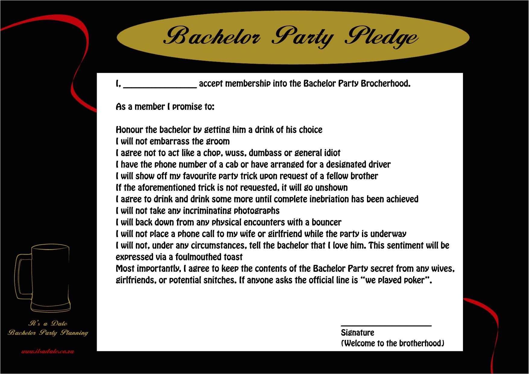 best bachelor party invitations