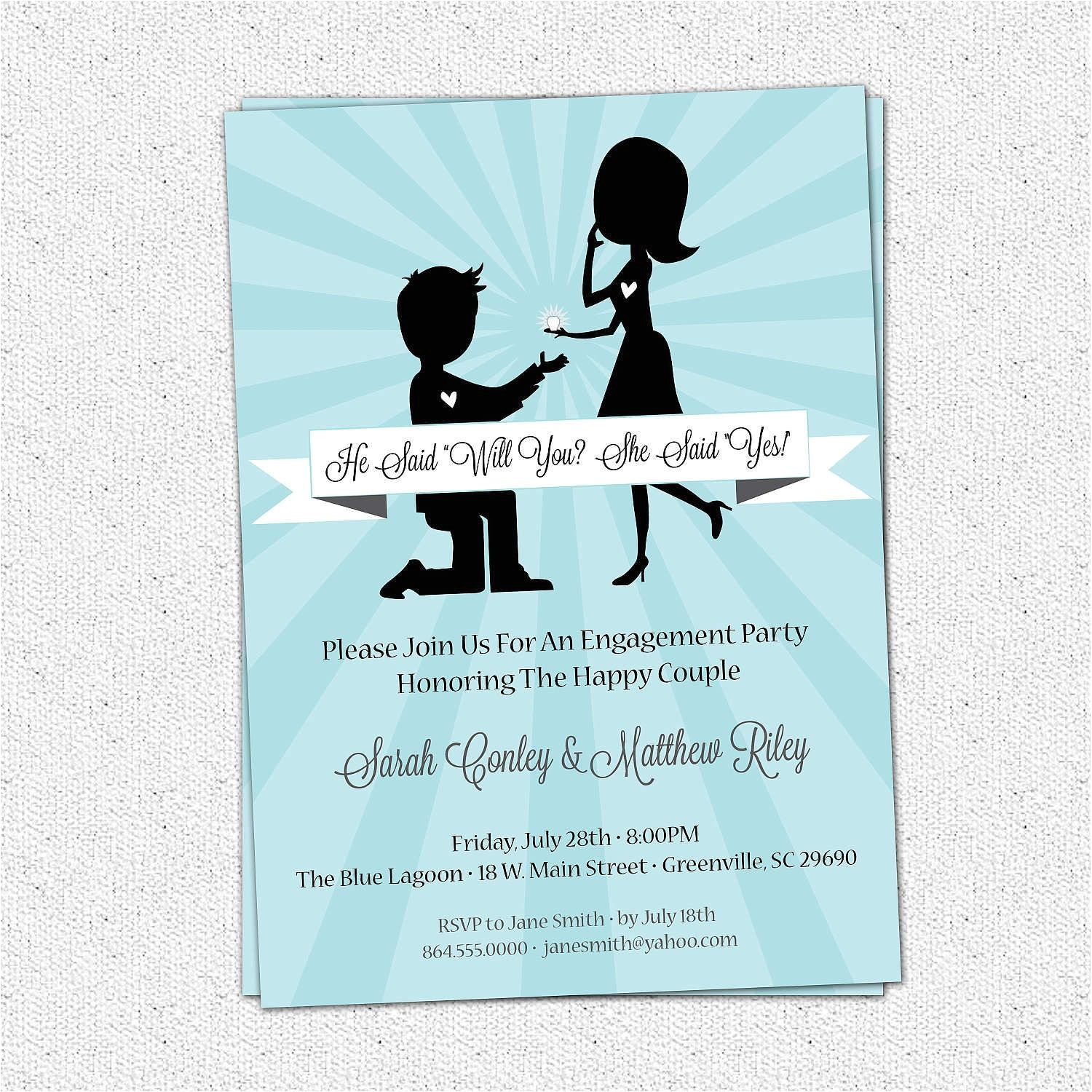 engagement party invitation wording 2