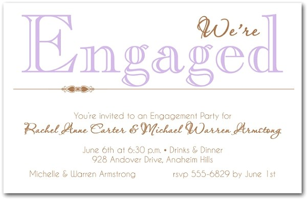 engagement invitation wording