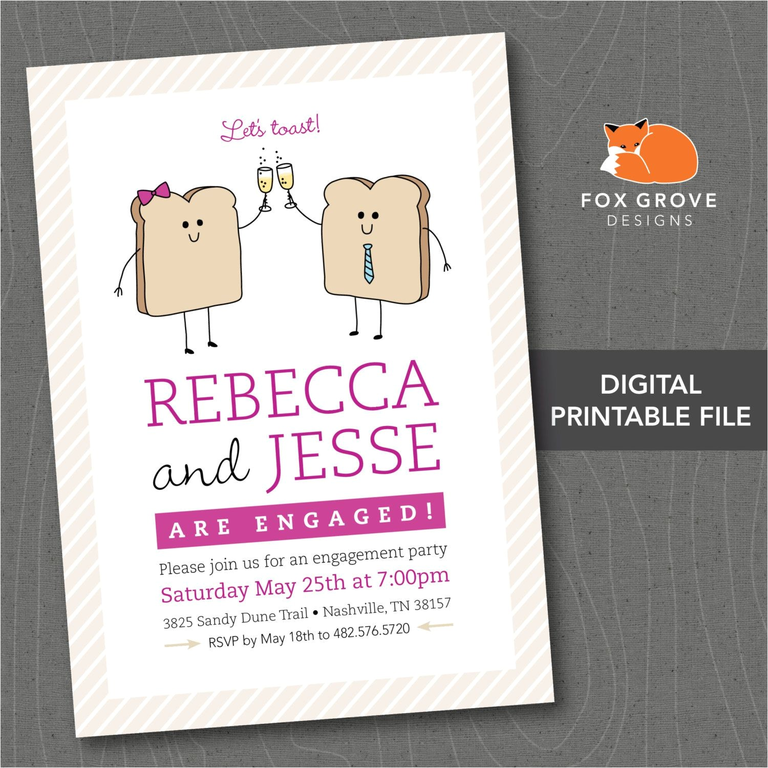 fun engagement party invitations