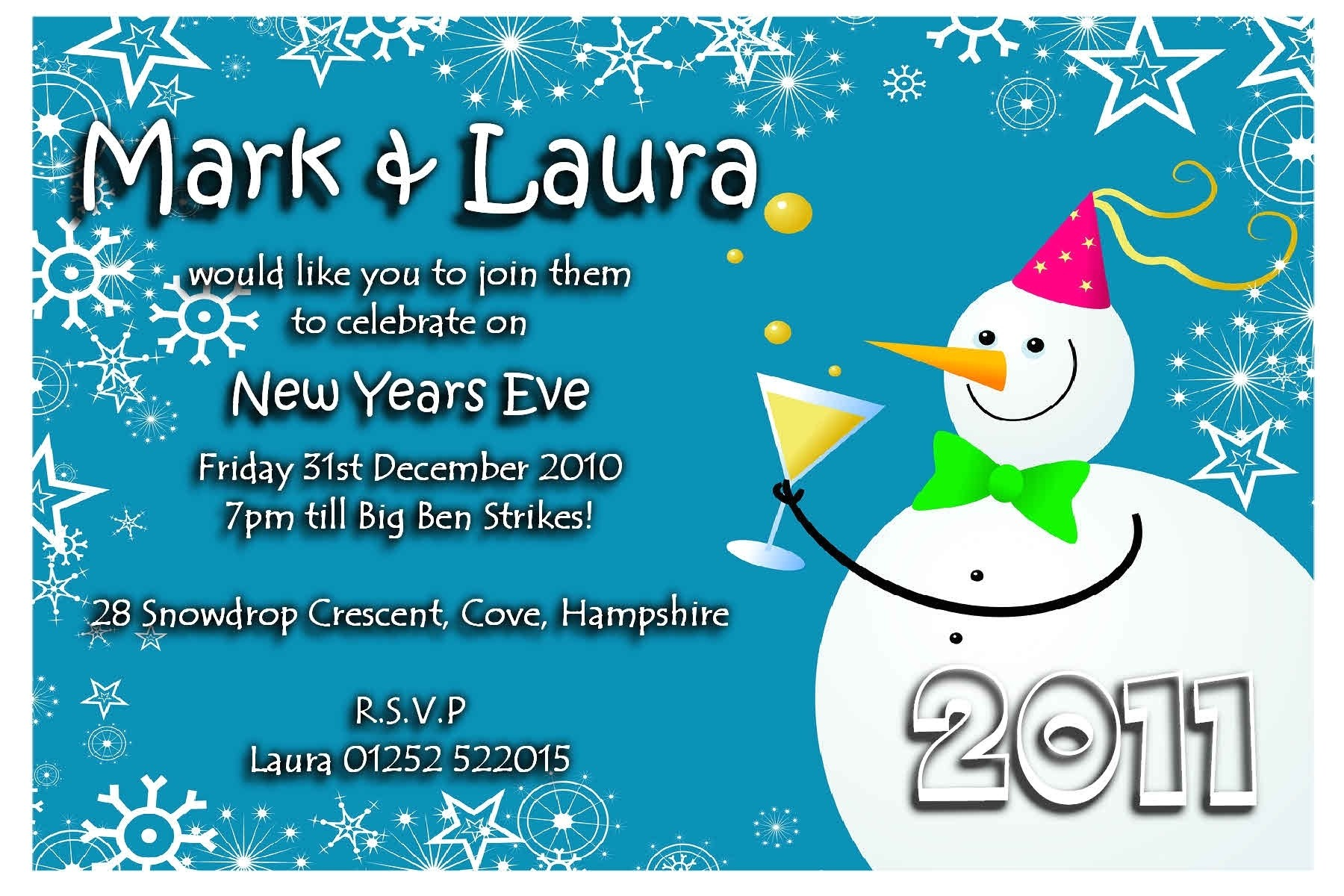 new years eve invitation wording template
