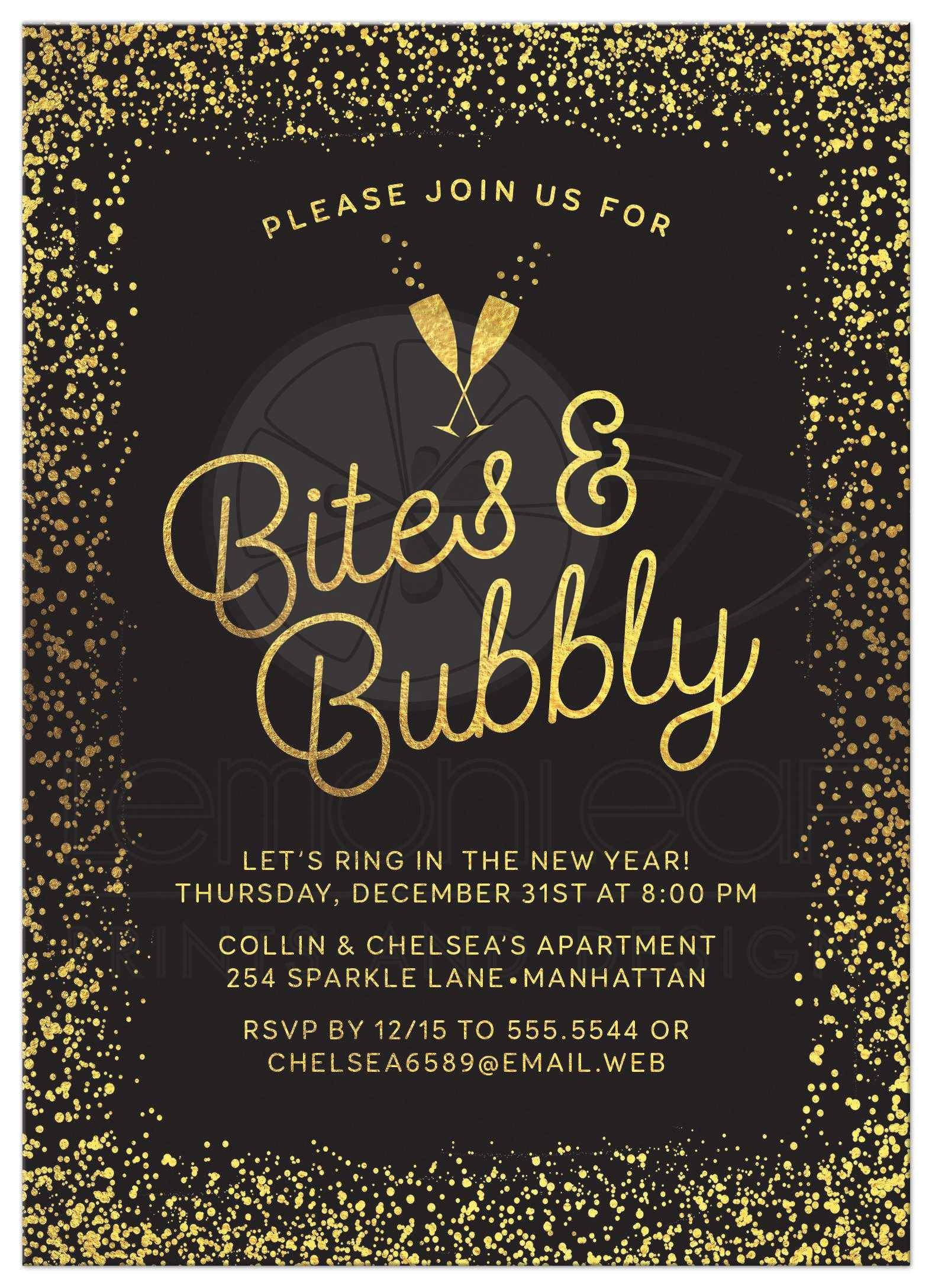 new years eve party invitations