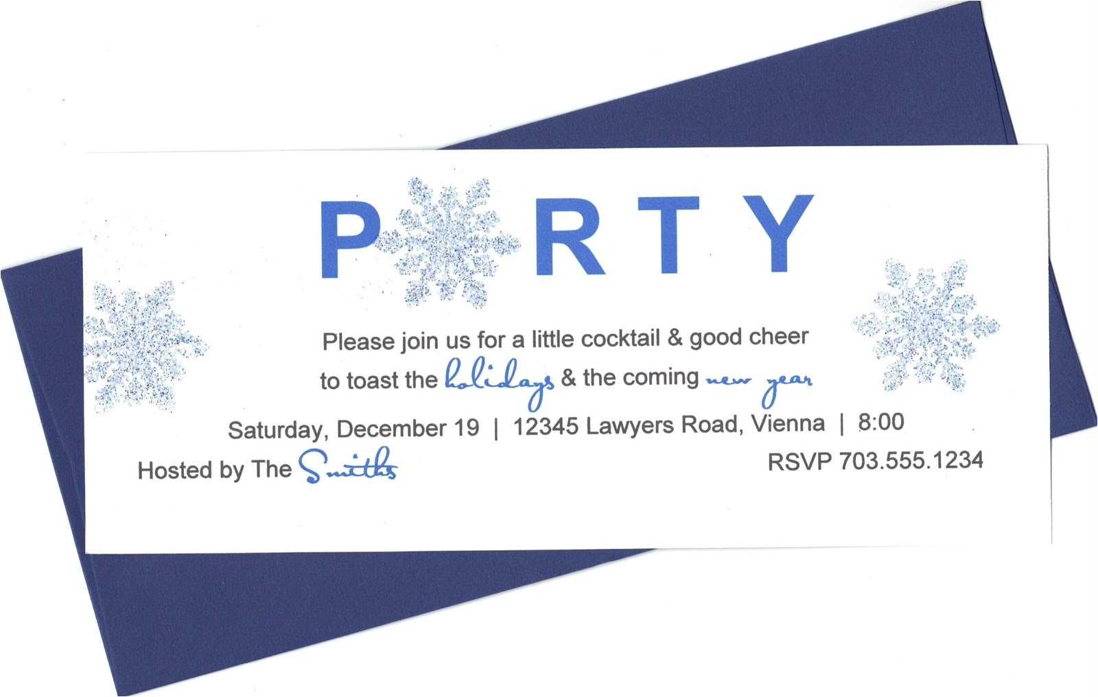 holiday party 7 invitation wording