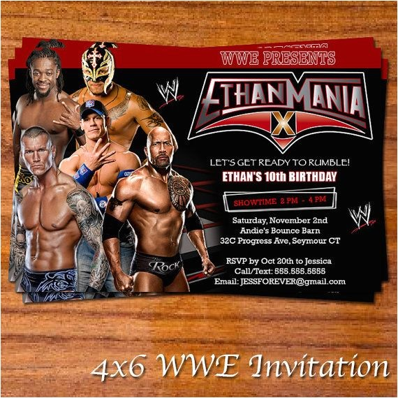 wwe bday party